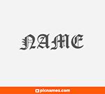 Junco en letras góticas