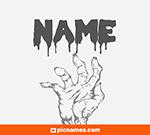 Junco en letras zombies